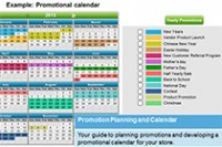 Promotional Planning and Calendar
